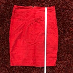 Red Pencil Skirt Dynamite Small